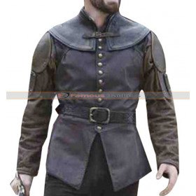 Galavant Leather Vest Worn by Joshua Sasse