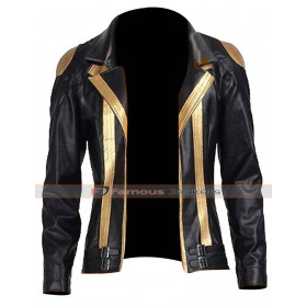 Team Instinct Spark Pokemon Leather Jacket