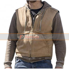 Yellowstone Luke Grimes Brown Cotton Vest