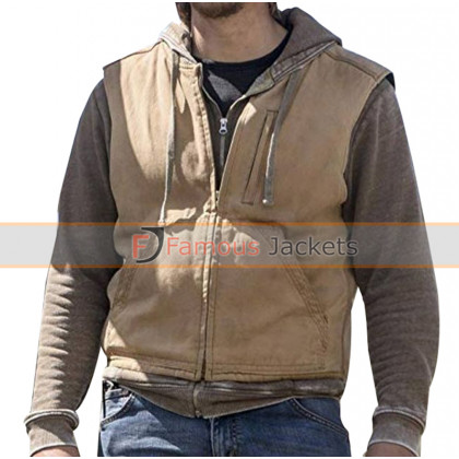 Yellowstone Luke Grimes Brown Cotton Vest