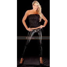 WWE Layla Leather Ladies Pants