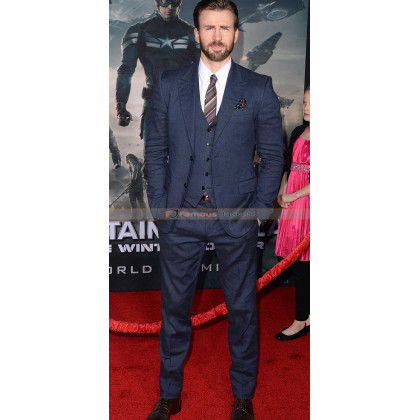 Captain America The Winter Soldier Chris Evans Suit