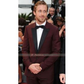 Ryan Gosling Burgundy Tuxedo
