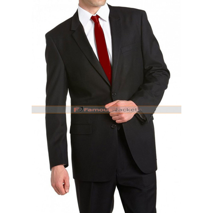 Agent 47 Black Suit with Red Tie