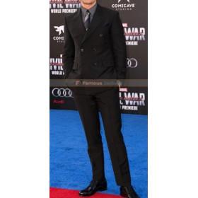 CA Civil War Premiere Sebastian Stan Black Suit