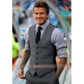 David Beckham Grey Waistcoat Suit