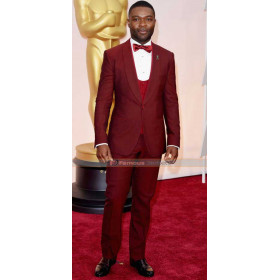 David Oyelowo Oscars 2015 Red Suit