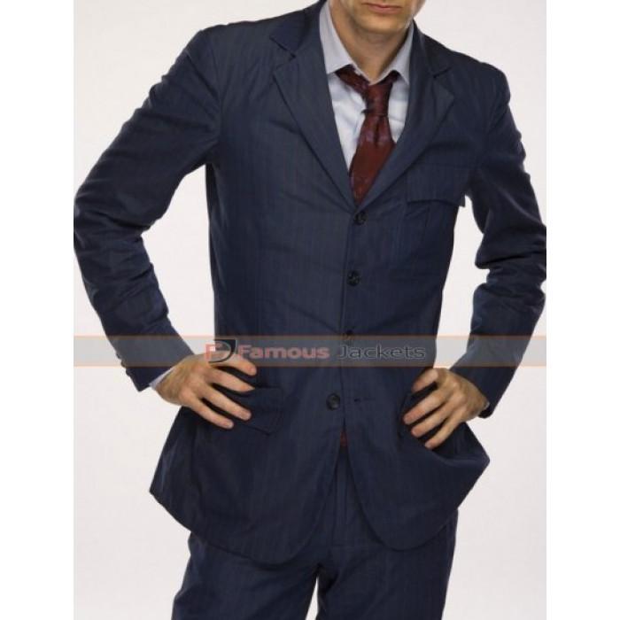 Who David Tennant Blue Pinstripe Suit