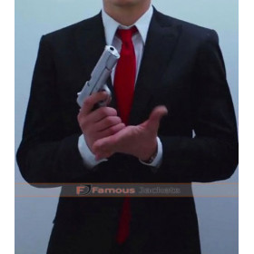 Hitman Agent 47 Black Suit with Red Tie