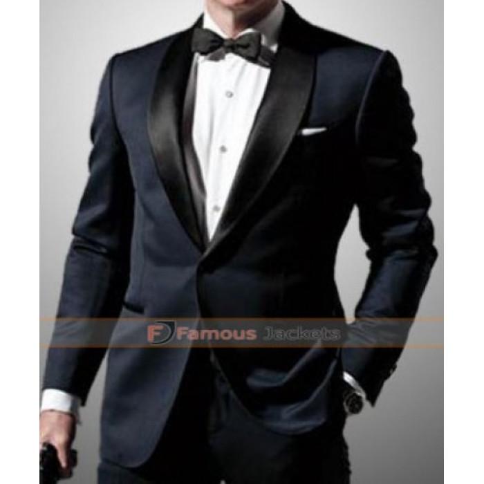 Bond Skyfall Midnight Blue Tuxedo Suit