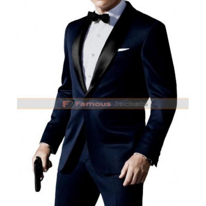 James Bond Skyfall Midnight Blue Tuxedo Suit