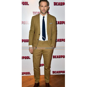 Deadpool Screening Ryan Reynolds Mustard Suit