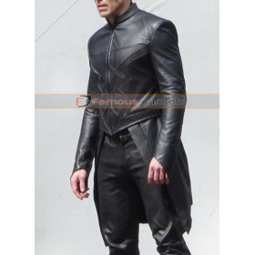 Black Bolt Inhumans Leather Costume Jacket