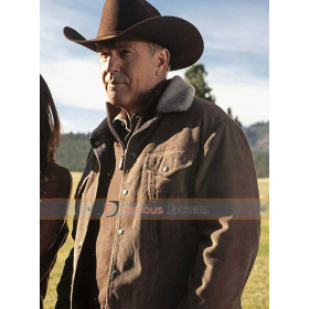 Yellowstone Kevin Costner Outfits Corduroy Jacket
