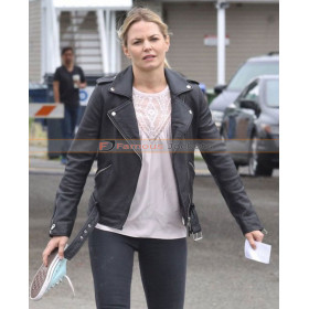 Emma Swan Once Upon A Time Black Biker Jacket