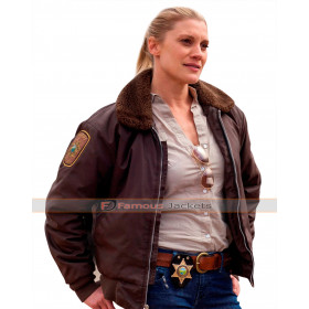 Longmire Victoria Moretti Fur Collar Bomber Jacket