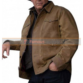 Yellowstone Kevin Costner Outerwear Vintage Brown Jacket