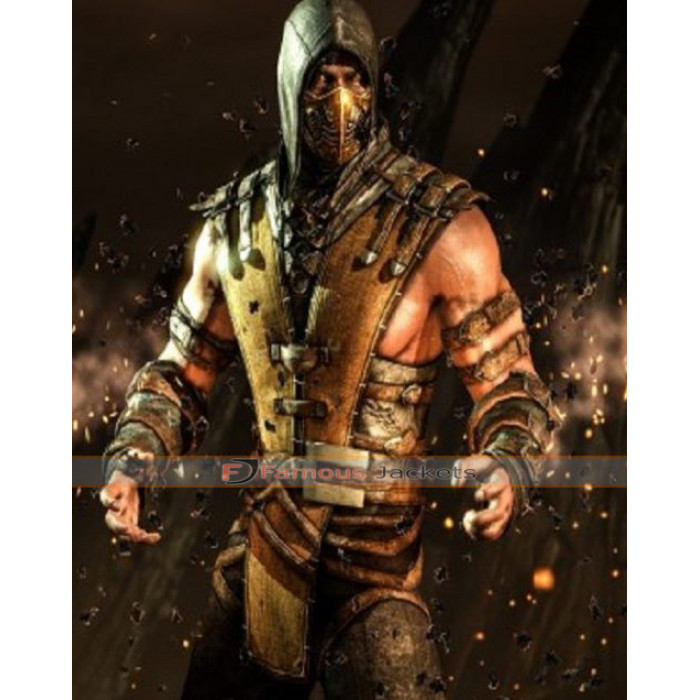 Legendary Scorpion Mortal Kombat X Leather Vest