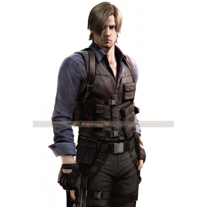 Resident Evil 6 Leon Kennedy Leather Vest