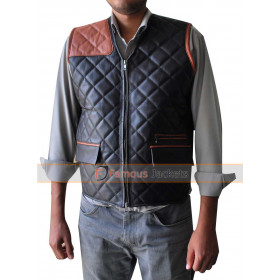 The Walking Dead Governor David Morrissey Quilted Leather Vest