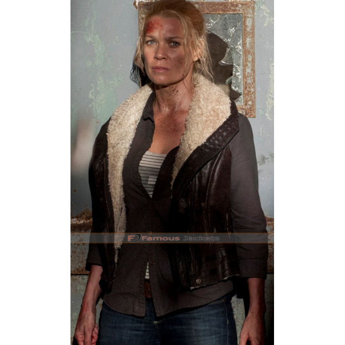 ef11b3792 The Walking Dead Laurie Holden (Andrea Harrison) Fur Leather Vest