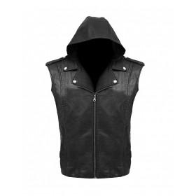 D Generation X Triple H WWE Crown Jewel Leather Vest Hoodie Jacket