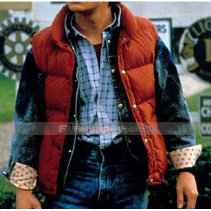 Back to the future 2 marty mcfly orange vest for sale