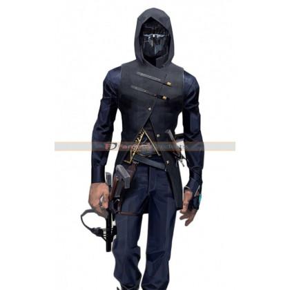 Dishonored 2 Corvo Attano Costume Black Leather Vest