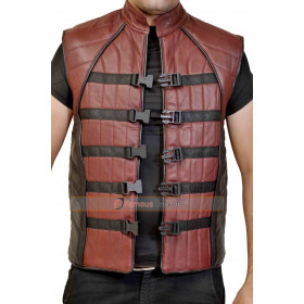 Farscape John Crichton Peacekeeper Leather Vest For Sale