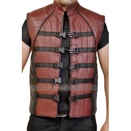 Farscape John Crichton Peacekeeper Leather Vest For Sale