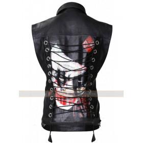 Property Of Joker Black Leather Vest