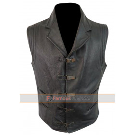 Van Helsing Hugh Jackman Black Leather Vest