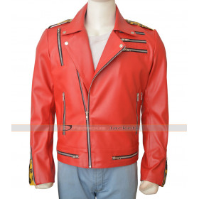 WWE Enzo Amore Red Leather Jacket