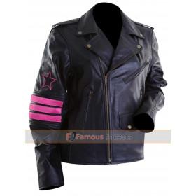 WWE Bret Hitman Hart Leather Jacket