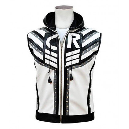 WWE Cody Rhodes Hooded Leather Vest