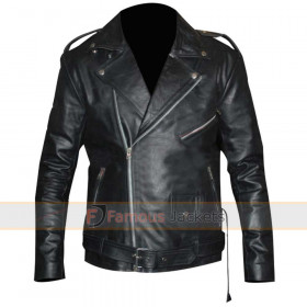 Triple H WWE Black Leather Motorcycle Jacket