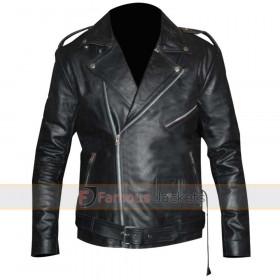 Triple H WWE Black Leather Motorcycle Jacket