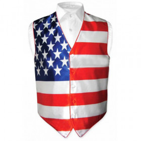 Men's Gear Tuxedo American Flag Independence Day Vest