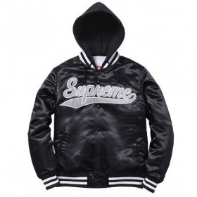 Drake Letterman Casual Black Supreme Hooded Jacket