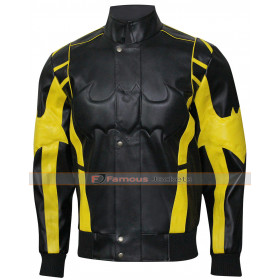 Motorcycle X Batman Black and Yellow Jacket