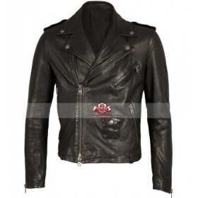 MCQ Alexander Mcqueen Leather Motorcycle Jacket For Mens