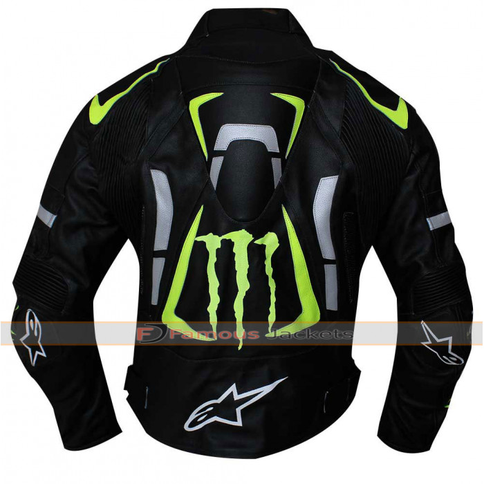 Alpinestars Leather Jacket >> Alpinestars Monster Energy Scream Motorcycle Armor Leather Jacket