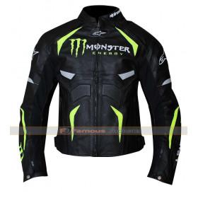 Alpinestars Monster Energy Scream Motorcycle Armor Leather Jacket