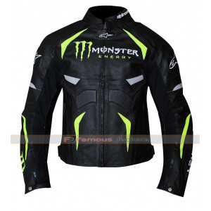 Alpinestars Monster Energy Scream Motorcycle Armor Leather Jacket