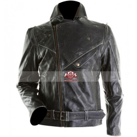 Brando Motorcycle Black Distressed Leather Jacket