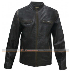 Daddy's Home Mark Wahlberg (Dusty) Biker Leather Jacket
