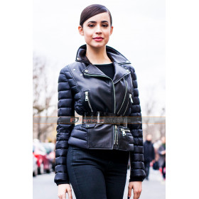Sofia Carson Paris Fashion Leather Jacket