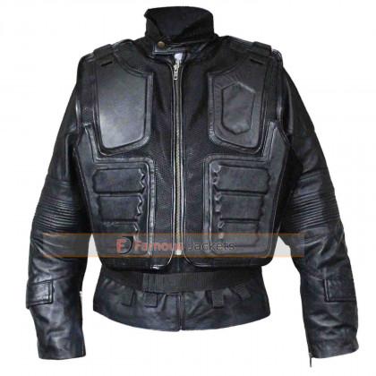 Judge Dredd 3D Karl Urban Armor Motorcycle Leather Jacket For Sale
