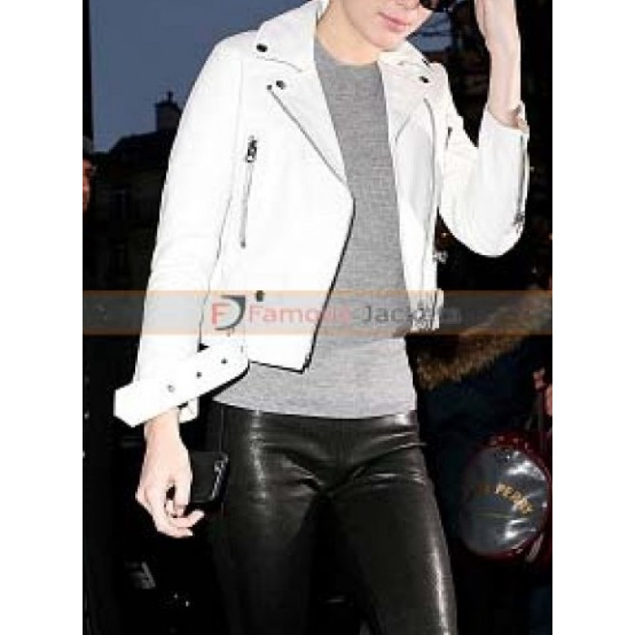 unique style provide large selection of huge sale Kendall Jenner Acne Studios Biker White Leather Jacket