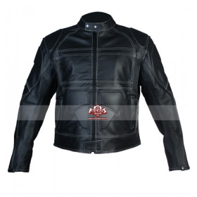 Men's Black Motorcycle Leather Jacket Melbourne Australia